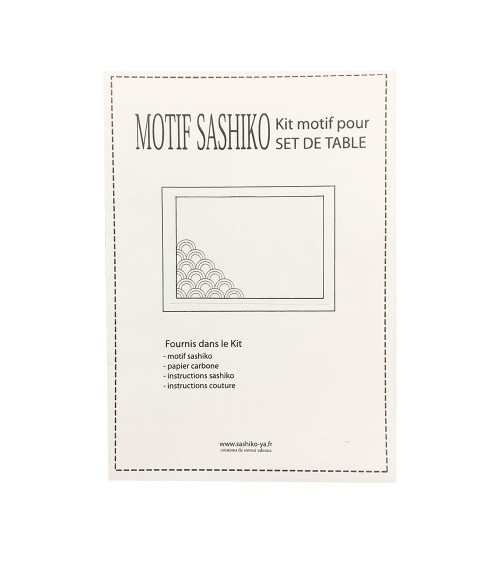 Kit set de table motif Asanoha