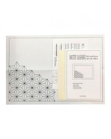 Kit set de table motif Asanoha