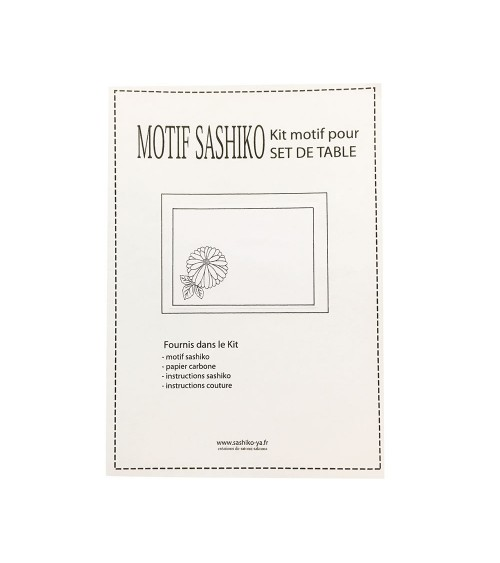 Kit set de table motif Kiku