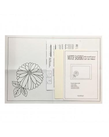 Kit set de table motif Kiku