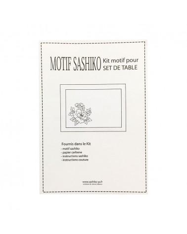 Kit set de table motif Pivoine