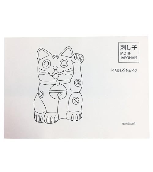 Motif Manekineko (chat maneki)