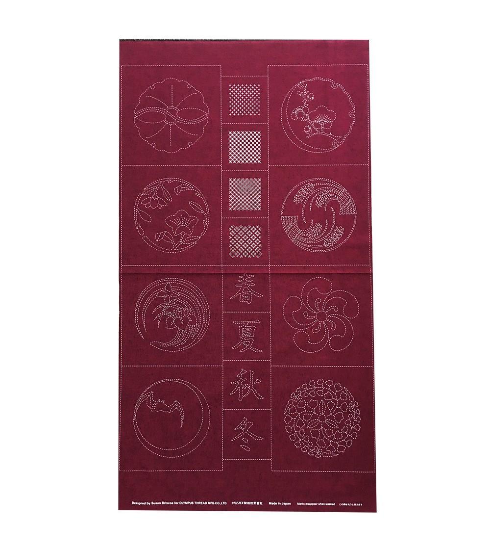 Panneau pré-imprimé Brisco n°5 rouge 60 x 110 cm