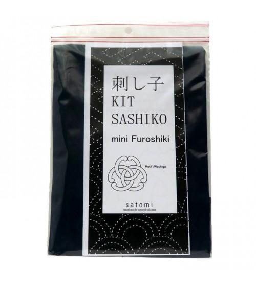 Kit mini furoshiki : motif wachigai