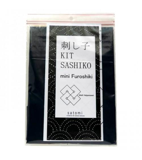 Kit mini furoshiki : motif Nejiyotsume