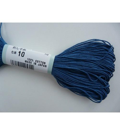 Fil sashiko bleu N°10