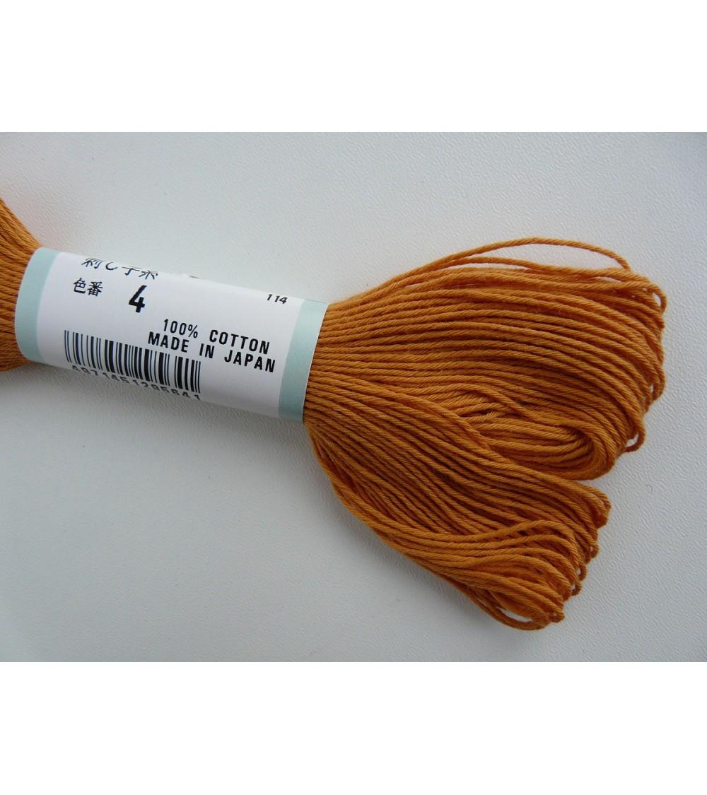 Fil sashiko orange N°4