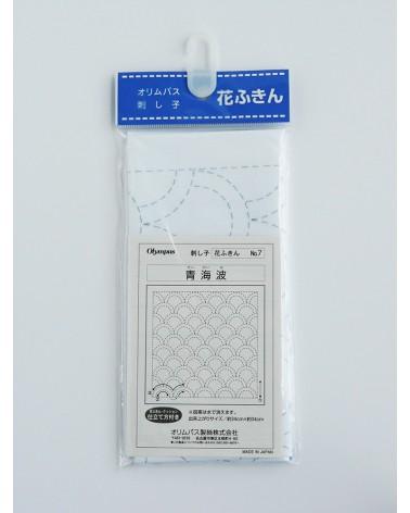 Seikaiha blanc N°7