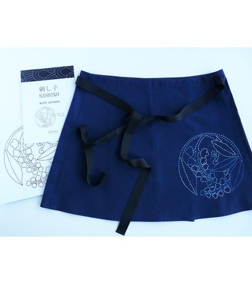 Jupe-tablier motif sashiko