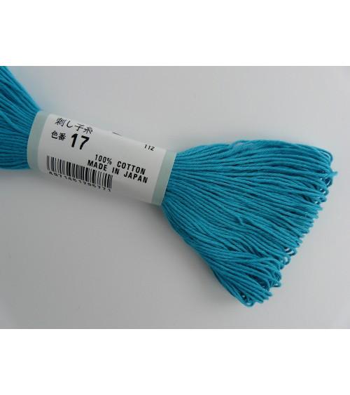 Fil sashiko Turquoise N° 17
