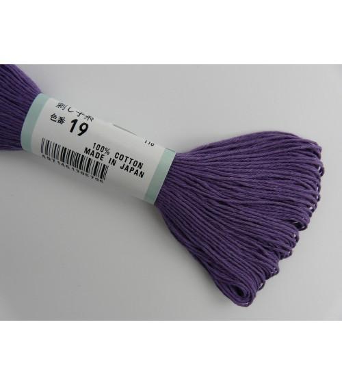 Fil sashiko violet N° 19