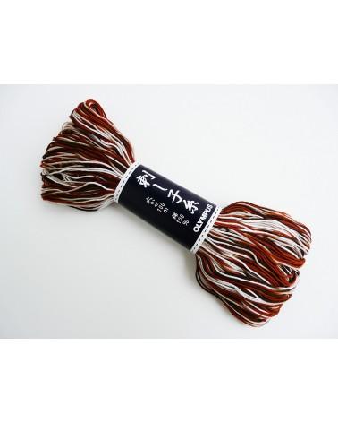 Fil sashiko N° 153 dégradé de marrons