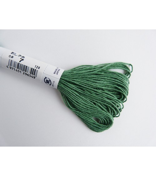 Fil sashiko vert N° 7