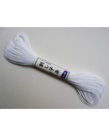 Fil sashiko blanc N°1