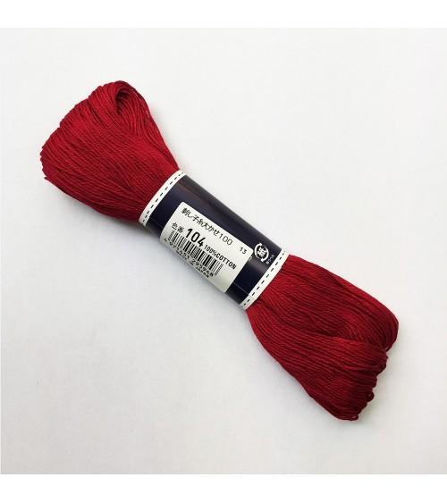 Fil sashiko rouge amarante 100m N°104