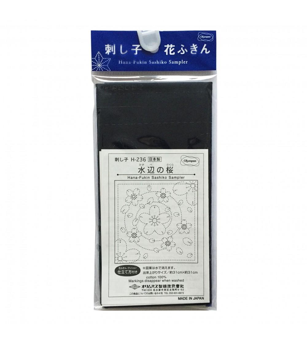 Mizube no Sakura bleu foncé  H-236