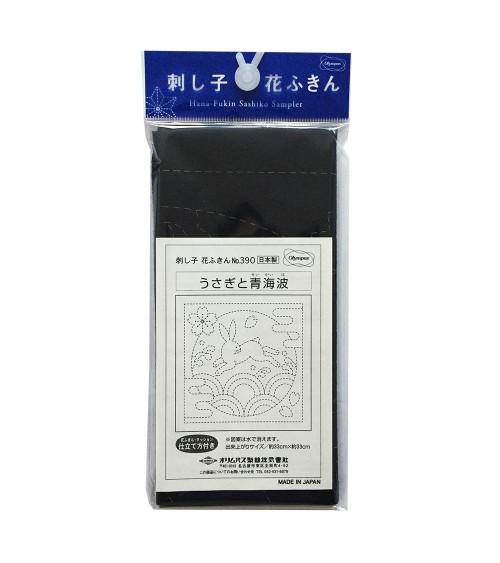 Usagi to Seigaiha bleu foncé  N°390
