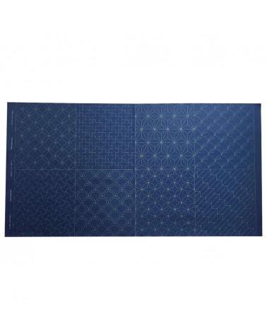 Panneau 8 motifs  bleu foncé